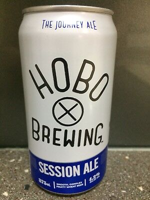 1 X 375ml Hobo Brewing - Session Ale Craft Beer Can - painted