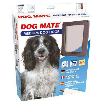 Dog Mate Hundetür Medium 215 B braun, UVP 74,95 EUR, NEU