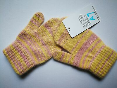 Mongolia Pure Cashmere Gloves Mittens for Ages 4-7 Kids Children - A7-1