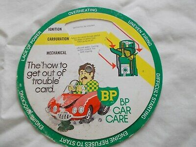 BP The'how to get out of trouble' card (cardboard wheel),1960s or early 1970s