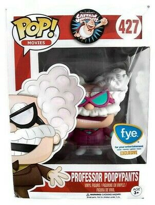 Funko Pop Professor Poopypants 427 Captain Underpants Movies Fye Exclusive New