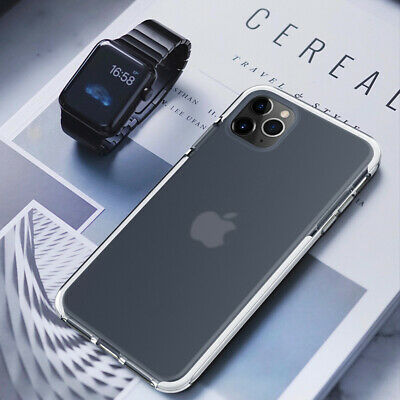 For iPhone 11 Pro Max XS XR 8 7 6 Shockproof Matte Soft Rubber Clear Cover Case