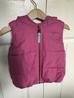 9-12 Month Girls Joules Gilet Pink
