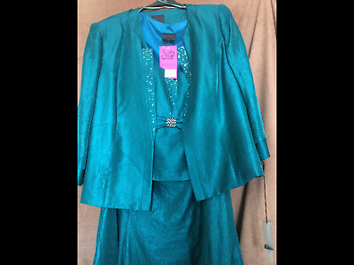 Frank usher mother of the bride outfit sz 24 BN