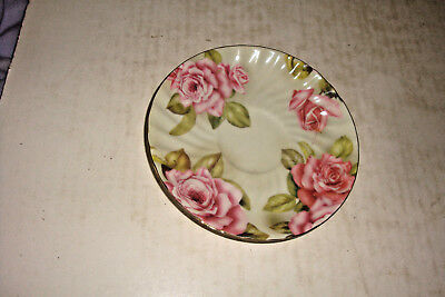 Round Plate- Milano Floral Collection- Fine Bone China-24 Ct. Gold Collection