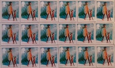 300 x 2nd class Xmas stamps Unfranked  Easy Peel n Stick FV £183
