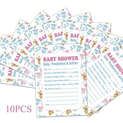 50PCS BABY SHOWER GAMES- Pink Polka Dot Favours Predictions Who Knows Mummy