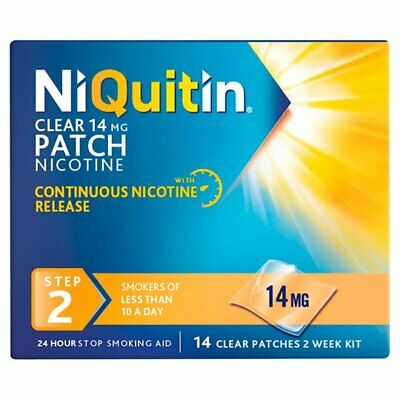 NIQUITIN CLEAR 14mg Patch - Step 2 X 14 Patches