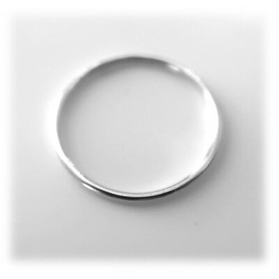 1mm Solid 925 Sterling Silver Skinny Round band Stacking Ring Polished Finish