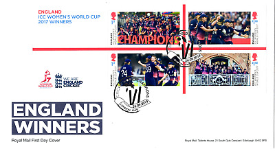 2019 England Winners Womens Cricket Gb First Day Cover Fdc *Nice* 26.09.19