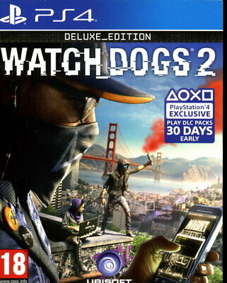 Watchdogs 2 Deluxe Edition incl Lithographs & Map of San Fransisco - PS4 Game