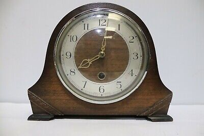 Vintage SMITHS Chiming Mantel Clock w/ Key + Pendulum - 226