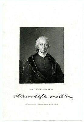 CHARLES CARROLL OF CARROLLTON, Declaration of Independence Signer/Engraving 8020