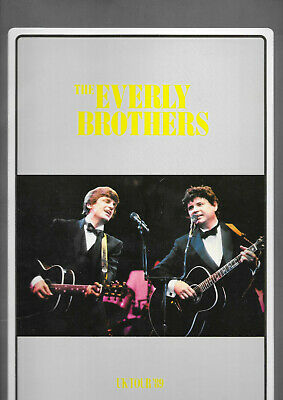 Rare / Programme Concert - The Everly Brothers : Live In Uk England 1989 Program