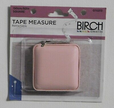 Birch Small Pink Retractable Tape Measure