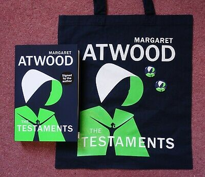 Margaret Atwood - The Testaments SIGNED FIRST EDITION plus TOTE BAG and BADGES
