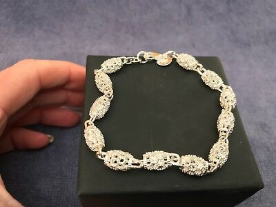 Beautiful Openwork Sterling Silver Bracelet BN