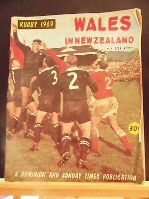 wales rugby magazines including wales in NZ 1969 bundle x7
