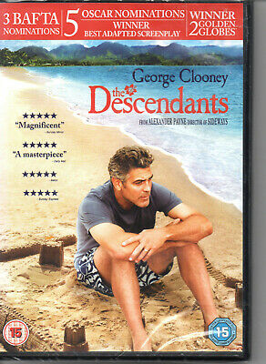 THE DESCENDANTS (George Clooney)  - DVD NEW SEALED