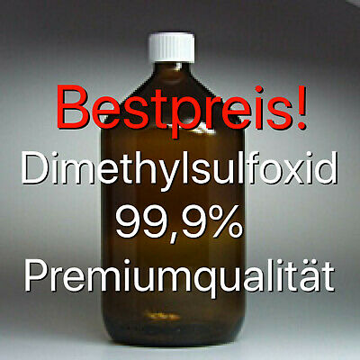 ✅ DMSO 1000ml Dimethylsulfoxid, über 99,9% Reinheit in Braunglasflasche ✅