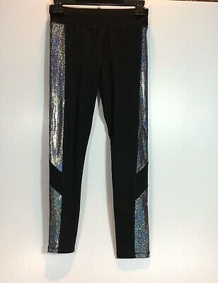 Justice Girl's Black Leggings. Youth Size 12