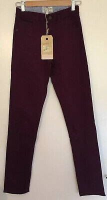 Bnwt Girls FAT FACE Burgundy Skin Skinny casual trousers size 12/13 years Chinos