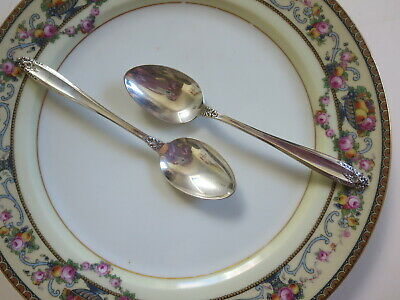 "Two (A Pair) International Sterling Silver Prelude 6"" Teaspoons 30G@ NO MONOGRAM"