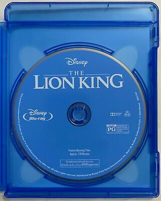 The Lion King 2019 Live Action Bluray 1 Disc Set (No Digital HD or Case)