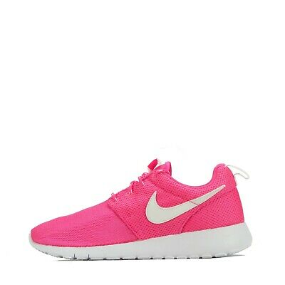 Nike Roshe One Junior Girls Older Kids Youth Trainers Shoes Pink/White