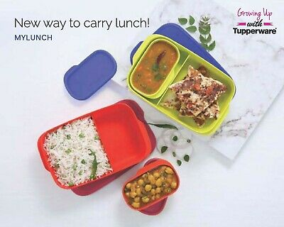 Tupperware My Lunch 120ml, 590ml Divided lunch box with liquid tight Container