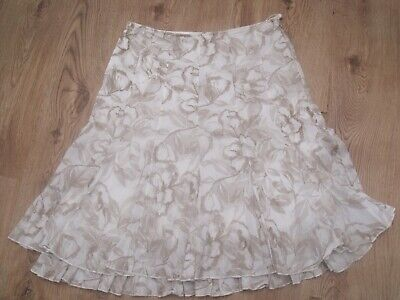 Summer Floral Reversible Crinkle Fabric Effect Midi Skirt 10-30 reg plus Curve
