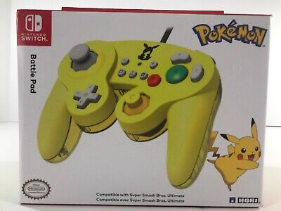 Nintendo Switch Pokemon Battle Pad Pikachu GameCube Style Controller + D-Pad Con