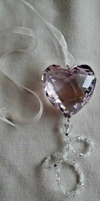 Rare Swarovski Silver Crystal 2008 Annual Edition Heart, Boxed, COA, 905440