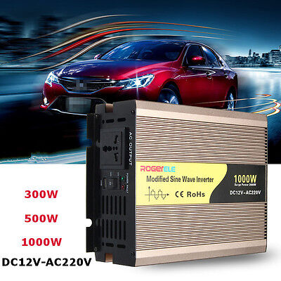 300-1000W DC12V to 220V Modified Sine Wave Car Power Inverter Adapter Converter