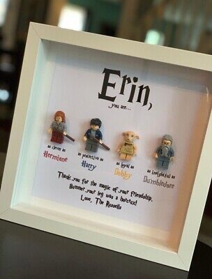 Personalised Picture Frame Harry Potter Lego Minifigure Birthday Christmas Gift