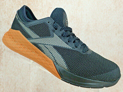 Reebok Crossfit Nano 9 Athletic Training Shoes Black Grey Gum Men's Size 10