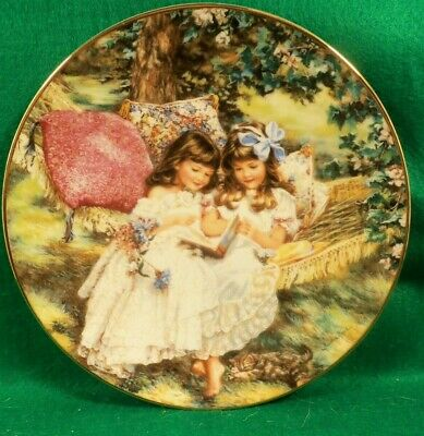 "Collector Plate "" Storybook Memories "" by Sandra Kuck. from ""Hearts and Flowers'"