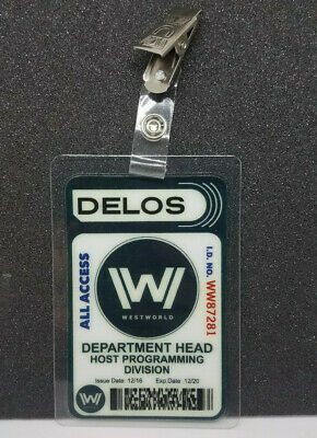 Westworld ID Badge - Host Programming Division prop cosplay costume