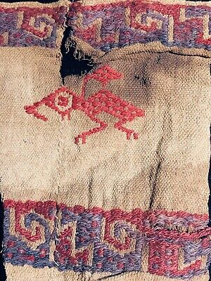 Authentic Pre Columbian Inca Hauri Textile >500 Year Old Cloth