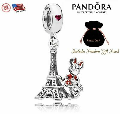 New Authentic S925 Pandora Disney Park Minnie Mouse Eiffel Tower Charm Bead