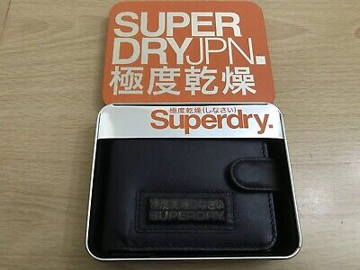 Jim Brown With Gold Logo BNWT Superdry New Classic Leather Zipped Wallet