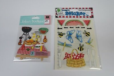 K/&CO BBQ Summer 3d Grand Adhesion Scrapbook Stickers