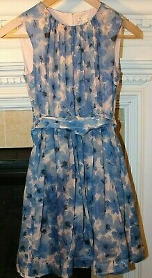 J CREW Crewcuts Girls Party Dress Blue Pink Tulle 12