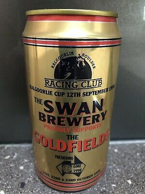 1 X 375ml Swan Brewery - 1998 Goldfields Racing Swan Gold Beer Can