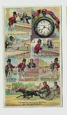 1880's The Waterbury Pocket Watch Trade Card Very Nice Condition No Reserve