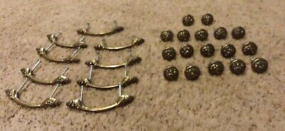 Vintage 26 PC Lot Tuscan Style Drawer Pulls Used