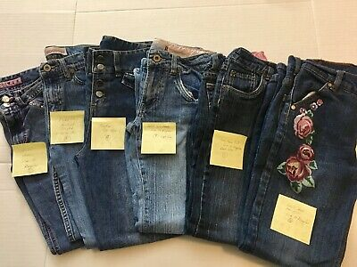 6 - Girls lot size 10/12 Jeans Levi's, Mudd, Bratz, Faded Glory (Pre-owned)