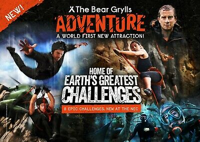 The Bear Grylls Adventure , Two Tickets - PICK YOUR OWN DATES & TIME