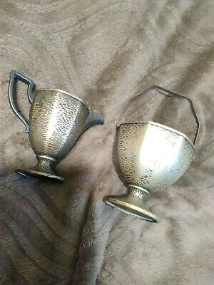 1920's Homan Plate on Nickel Silver Sugar And Creamer