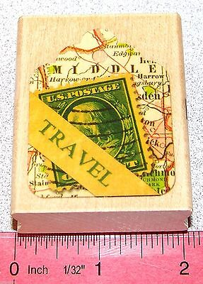 Tag Stamp Travel Themed Perfect Size for Small Tag Places size 2-1/2 x 2
